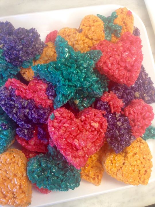 Rice Krispy Hearts and Stars